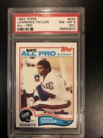 1982 Topps Lawrence Taylor ALL-PRO (RC) #434 Psa 8 (oc)