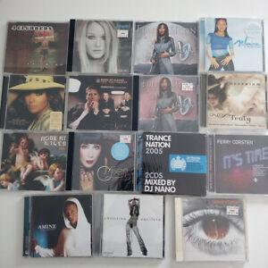 Lot de 15 CD album et maxi single