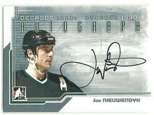2013-14 ITG Decades 1990s Autographs JOE NIEUWENDYK DALLAS STARS AUTO