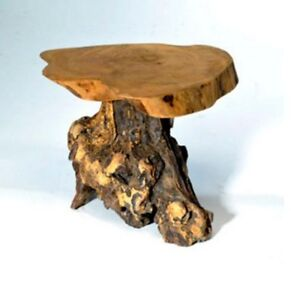 Coffee Root Wooden Stand Side Table Natural Fair Trade Indoor Outdoor Rustic 20