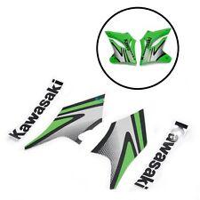 4pcs Left Right Green Black Front Side Sticker for Kawasaki KLX250 2004-2007