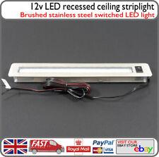 12v LED Kitchen Toilet Strip Light Downlight Brushed Stainless Steel Motorhome