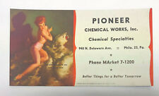 "1950's Gil Elvgren Pin Up Blotter Card ""He Almost Scared Me Out Of My Skin"""