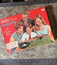 Vintage Merit Popular Roulette 1966 Set by J & L Randall of Potters Bar, England