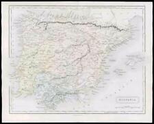 1864-Antiguo Mapa Original Antiguo España & Portugal Hispania (20)