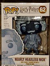 Funko Pop Harry Potter Nearly Headless Nick Blue Translucent Vinyl Figure #62