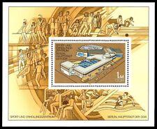 EBS East Germany DDR 1981 Sport & Recreation Centre Berlin Michel Block 64 MNH**