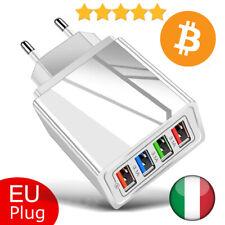 Caricabatterie 4 porte USB Quick Charge 3.0 Caricatore Rapido Ricarica Veloce