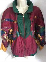 Vintage Westside Connection Jacket L Color Block Nylon Hip Hop  80 90s Red Green