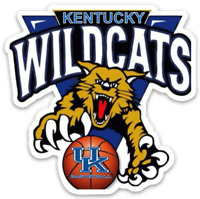 "University of Kentucky Wildcats  Basketball ""Scratch"" Mascot MAGNET"