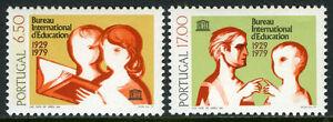 Portugal 1433-1434, MI 1451-1452, MNH. Intl. Bureau of Education, UNESCO, 1979