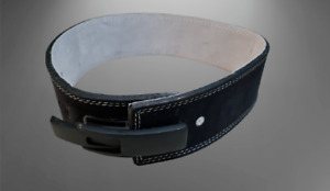 F2F Weight Lifting Power Belt In Leather & Amara Material Black Lever Buckle