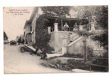 01 - cpa - PORT GALLAND - La terrasse de l'hôtel du pont   (i 9368)