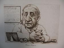"Art print Charles Bragg black Lithograph gp ""Brain Surgeon"" Duotone Signed"