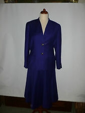 LADIES   ALEXON  WOOL COLLARLESS  BUSINESS SUIT   SIZE UK 16  EU 42 BRITISH MADE