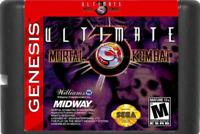 Ultimate Mortal Kombat 3 16 bit MD Game Card For Sega Mega Genesis 1996 16