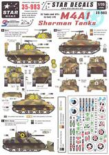Star Decals 1/35 M4A1 SHERMAN TANK U.S. Tanks & AFVs in Italy Part 1