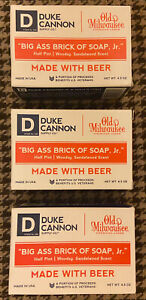 Lot Of 3 Duke Cannon - Big Ass Brick of Soap Jr  4.5 oz Each Old Milwaukee Beer