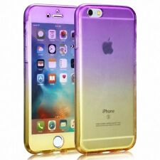 HUAWEI P9 Full Body 360 Silicone Protective Case Cover Case Purple/Yellow