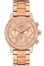 Lacoste Women's Watch 2000834 Brand Stainless Steel Rose Gold Wristwatch New