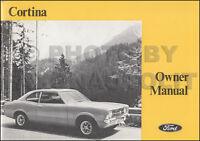 1972 Ford Cortina Owners Manual Original OEM Canadian Owner User Handbook Guide