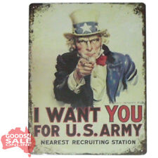US Army - Retro Novelty Tin Wall Sign for Home Bar Pub or Garage 20x30cm