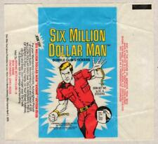 1976 Donruss - SIX MILLION DOLLAR MAN - Original Sticker / Card Wax Pack Wrapper