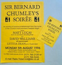 1996 Matt Lucas David Walliams ticket Sir Bernard Chumley pre Little Britain