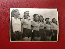 VINTAGE PHOTO 1950's USSR URSS SPORT SOVIET ATHLETES in ORENBURG. СССР ЧКАЛОВСК.