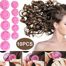 10pcs DIY Silicone Hair Curlers Set Kit Magic Soft Rollers Hair Care No Heat