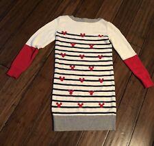 Gap Kids Disney Mickey Mouse Stripe Long Sleeve Sweater Dress L 10 Girls