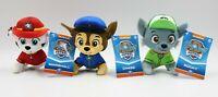 Nickelodeon Paw Patrol Rocky Chase Marshall Mini Stuffed Toys Lot 3 NEW