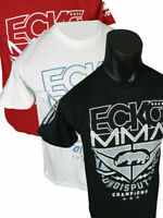 Mens ECKO UNLTD T-Shirt BROADBAND MMA FIGHTER Reflective in Black White or Red