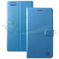 Custodia Flip cover Stand pr Huawei Honor 4X case Azzurra booklet libretto nuova