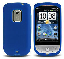 For Sprint HTC Hero Rubber SILICONE Soft Gel Skin Case Phone Cover Dark Blue