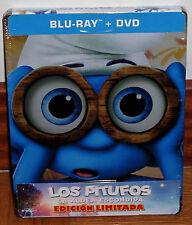 THE PITUFOS THE HIDDEN VILLAGE STEELBOOK BLU-RAY+DVD NEW (UNOPENED) R2