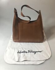 Vintage Salvatore Ferragamo Brown Shoulder Bag / Purse - AF-21 0184 + Dust Pad