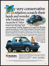 Suzuki Sidekick print ad 1992 blue car