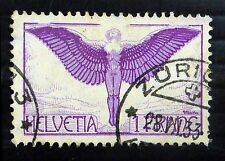 SWITZERLAND 1924 1F Airmail SG327 Fine/Used NEW PRICE FP8509