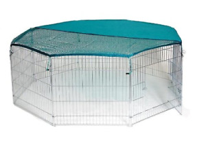 Bunny Business 8-Panel Playpen with Free Safety Net, 55 x 55-inch, Extra Large