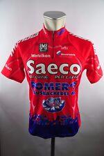 Santini Saeco Romers Radtrikot cycling jersey Trikot Gr. L 52cm O19