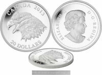 2013 ROYAL CANADIAN MINT BALD EAGLE PORTRAIT OF POWER $20 FINE SILVER COIN