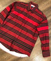 Vintage Wrangler Stripes Long Sleeve Western Shirt Size 17 35 Extra Long Tails