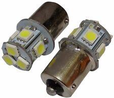 2x Ampoules 24V P21W R10W R5W 8LED SMD blanc pour camion semi-remorque portail