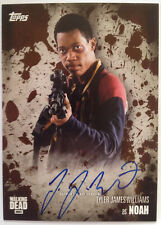 The WALKING DEAD - Tyler James Williams as NOAH - MUD Autograph Card No.7/50