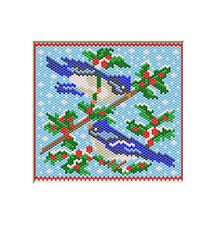 WINTER BLUE JAYS~BEADED BANNER PATTERN ONLY