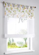 Raffrollo 140 x 60 cm weiß bunt Schlaufen transparent Schmetterlinge