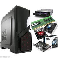Quad Core AMD 3850 AM1 Aufrüst Computer / 4GB DDR3 / DVD-RW / PC System ohne HDD