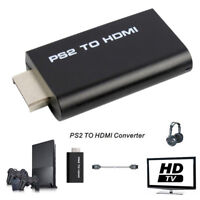 PS2 to HDMI Video Converter AV Adapter 3.5mm Audio Output HDMI Connecto BRri