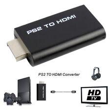 PS2 vers HDMI Convertisseur vidéo Adaptateur AV Sortie audio 3,5 mm Connecteu`FR